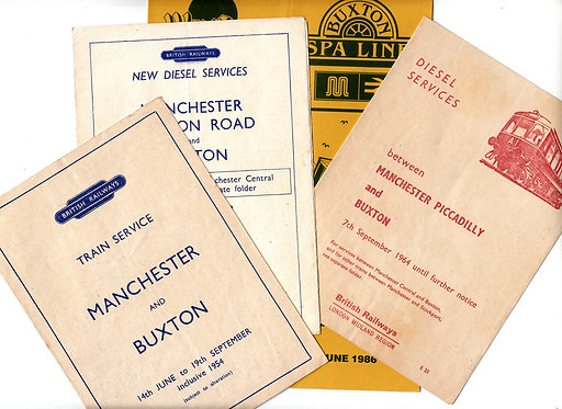 Railway Timetables - Manchester to Buxton Line
