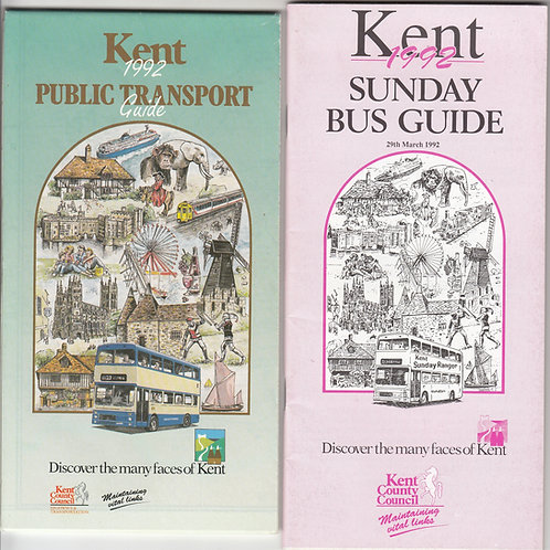 Kent Bus Map - 1992