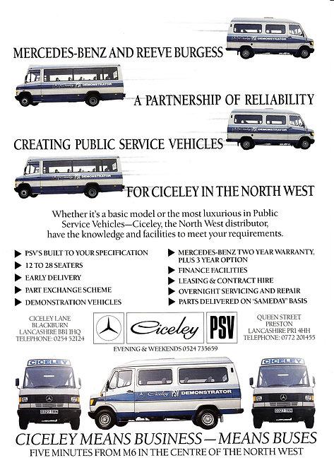 Manufacturer's Brochure - Mercedes & Ciceley