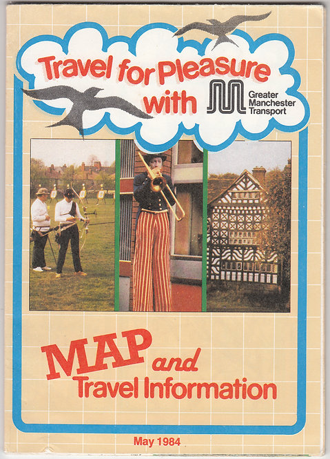 Greater Manchester PTE - Travel for Pleasure Map - May 1985