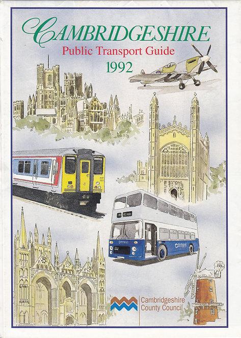 Cambridgeshire Bus Map - 1992