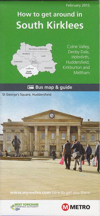 West Yorkshire Metro Map - South Kirklees - 2015