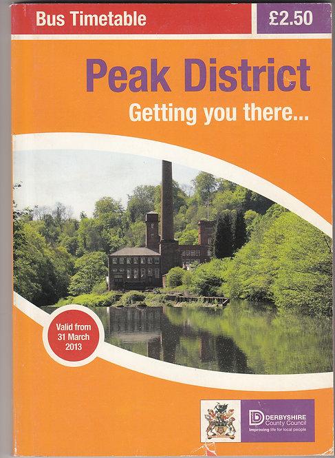Peak District Bus Timetable - March 2013