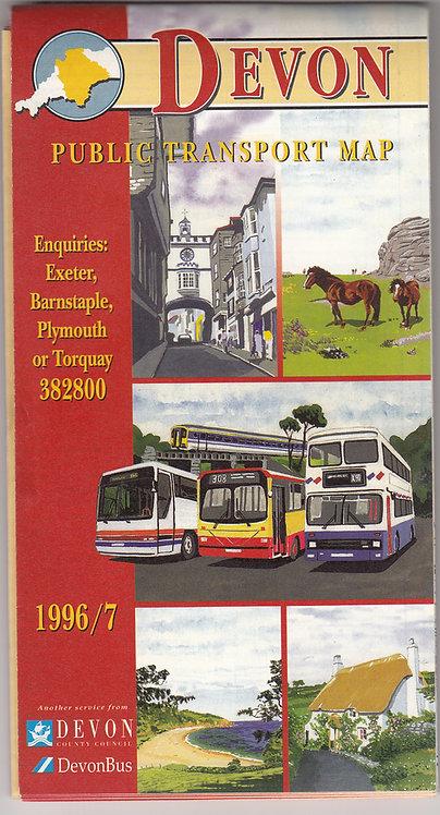 Devon Bus Map - 1996/7