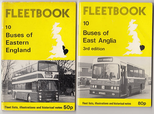 Fleetbook 10 - Eastern England/East Anglia - 1st & 3rd Editions - 1977 & 1982