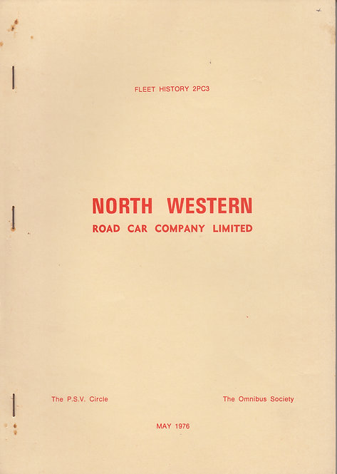 North Western Road Car Co - Fleet History 2PC3