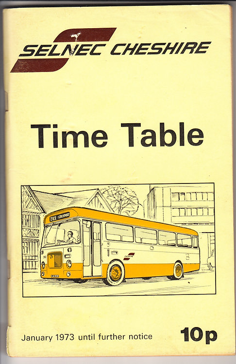 SELNEC Timetable - Cheshire - January 1973