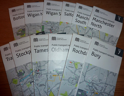 Transport for Greater Manchester Map Set - 2015