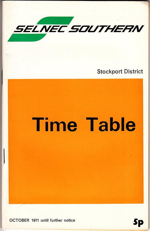 SELNEC Timetable - Stockport - October 1971