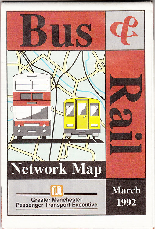 Greater Manchester PTE Map - March 1992