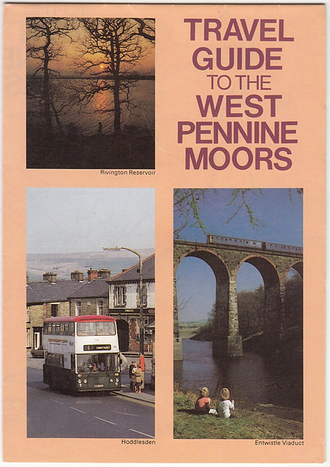 Bus Map of West Pennine Moors - Summer 1984