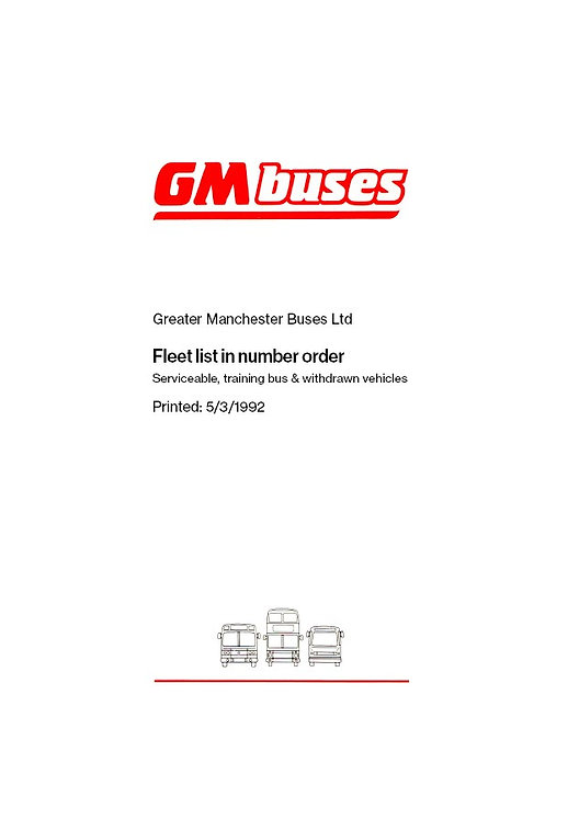 GM Buses Fleet List 1992 (PDF download)