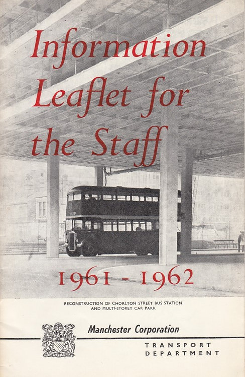 Manchester City Transport Annual Report to Staff - 1962