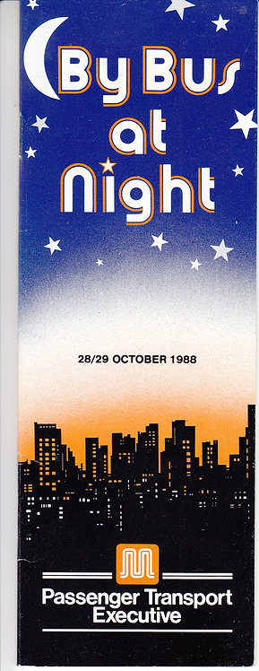 Night Bus Service booklet - GMPTE - October 1988