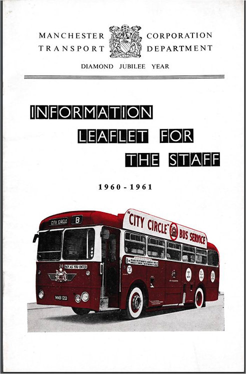 Manchester City Transport Annual Report to Staff - 1961