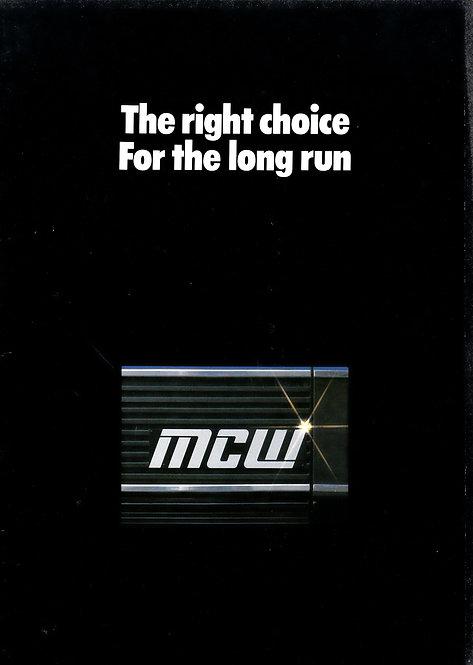 Manufacturer's Brochure - MCW