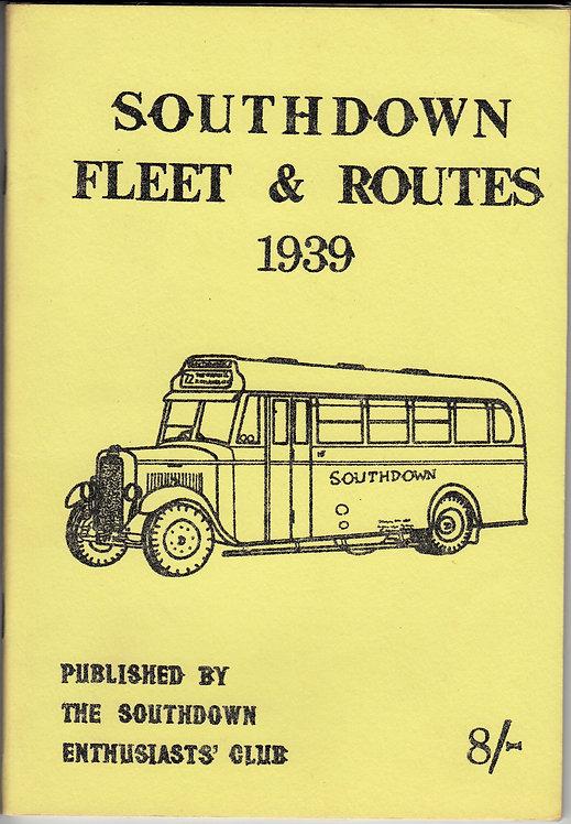 Southdown Fleet & Routes 1939