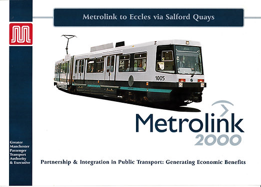 Metrolink to Eccles via Salford Quays - December 1996