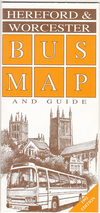 Hereford & Worcester Bus Map - 1992