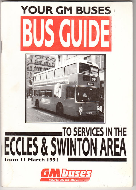 Bus Guide for Swinton and Eccles bus services - March 1991