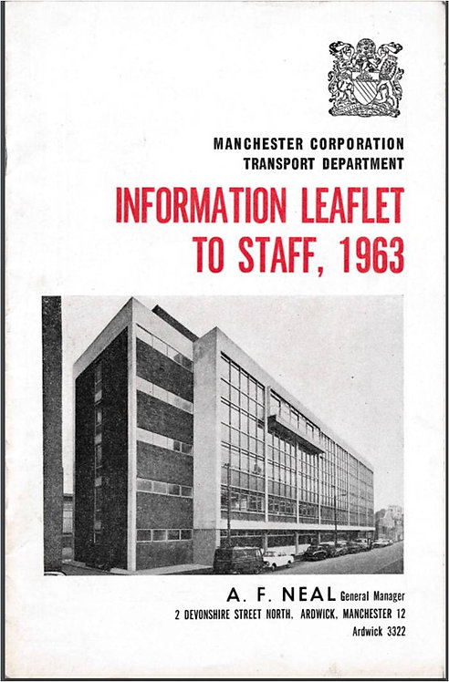 Manchester City Transport Annual Report to Staff - 1963