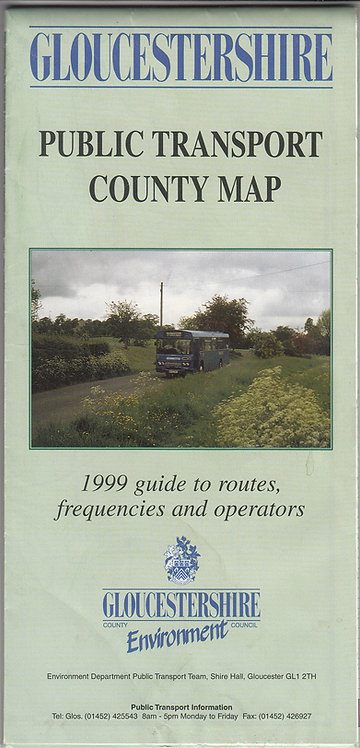 Gloucestershire Bus Map - 1999
