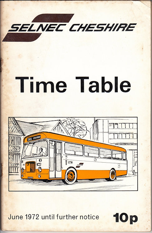 SELNEC Timetable - Cheshire - June 1972