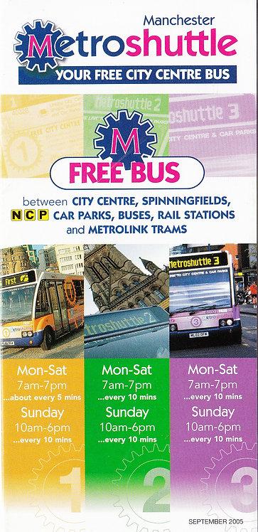 GMPTE - Metroshuttle services 1 2 & 3 - September 2005