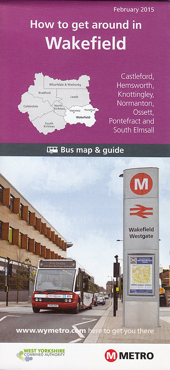 West Yorkshire Metro Map - Wakefield - 2015