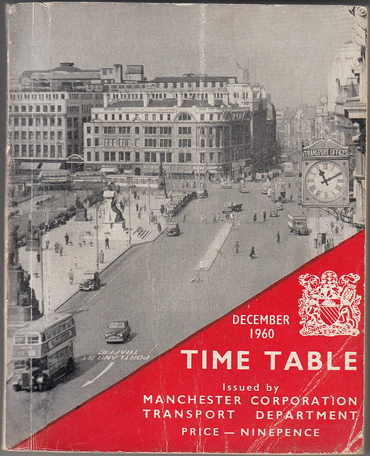 Manchester City Transport Timetable - December 1960