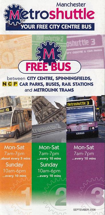 GMPTE - Metroshuttle services 1 2 & 3 - September 2006