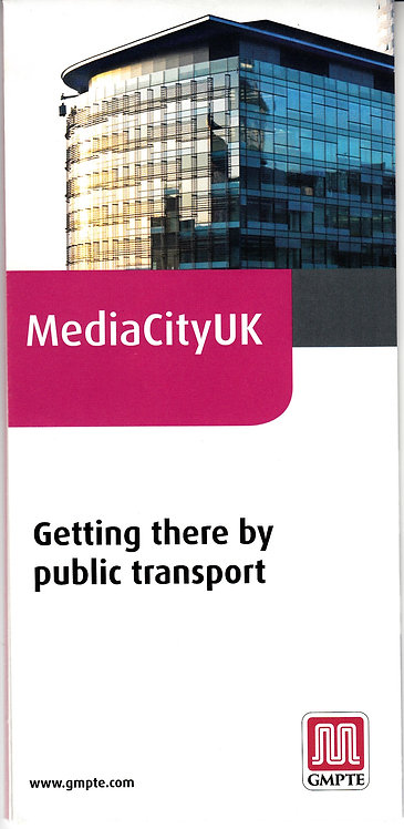 Greater Manchester PTE - Media City map - July2010