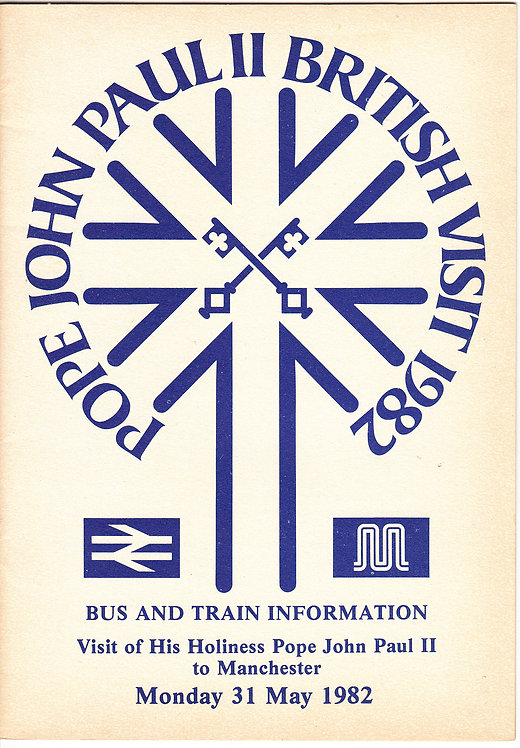 Greater Manchester PTE guide - Pope John Paul II - 1982