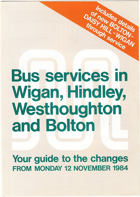 Greater Manchester Transport Service Revision booklet - Wigan area - March 1976