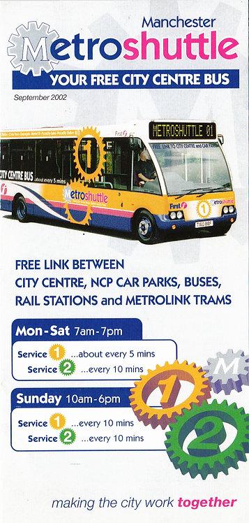 GMPTE - Metroshuttle services 1 & 2 - September 2002