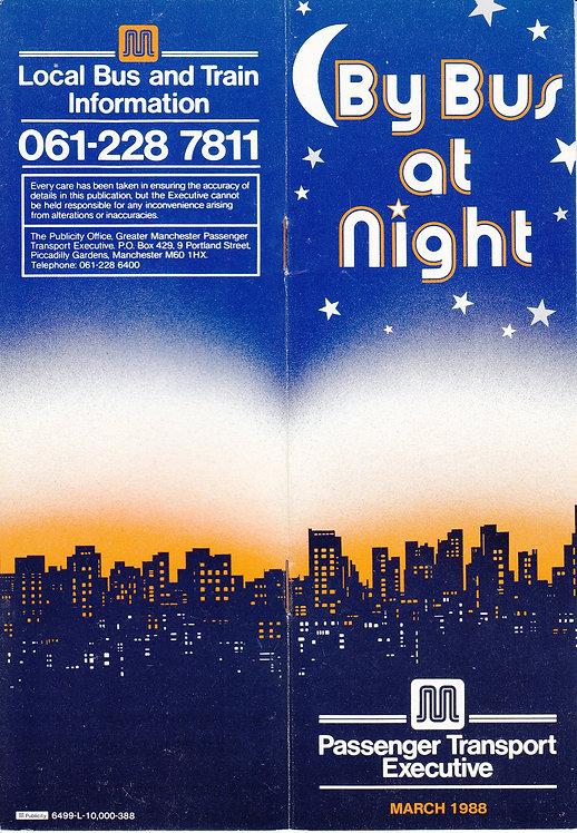 Night Bus Service booklet - GMPTE - March 1988