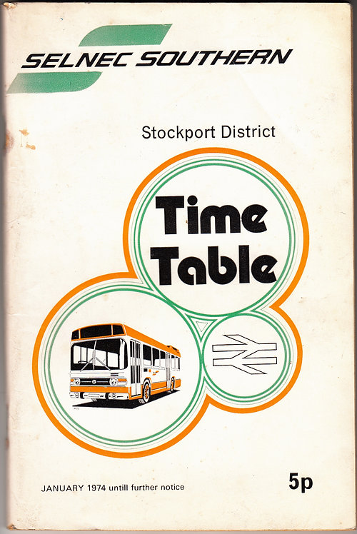 SELNEC Timetable - Stockport - January 1974