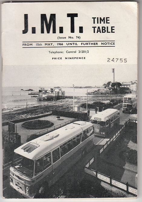 JMT Jersey Bus Timetable - May 1966