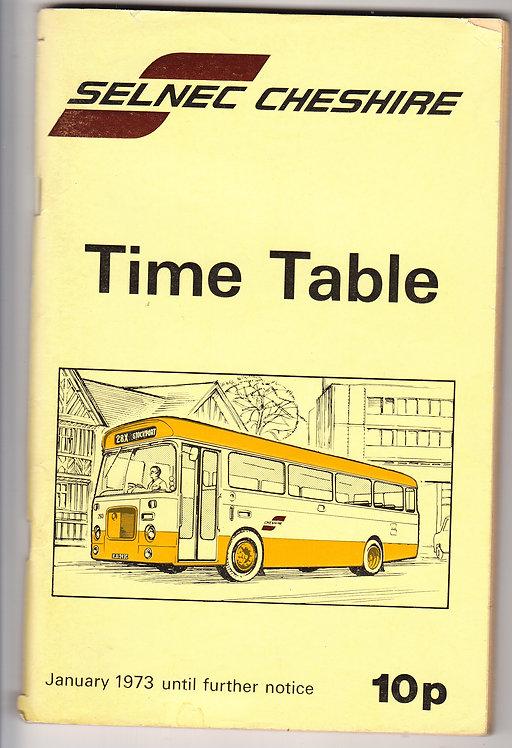 SELNEC Timetable - Cheshire - January 1973