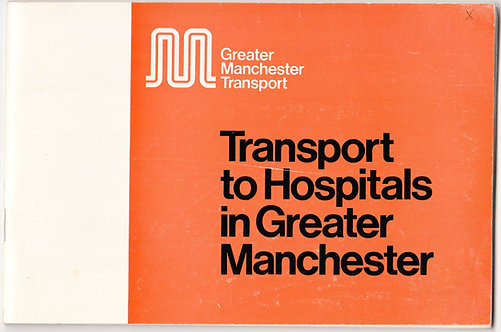 Transport to Hospitals in Greater Manchester - 1974