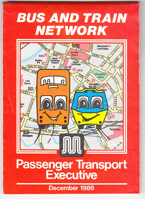 Greater Manchester PTE Map - December 1986