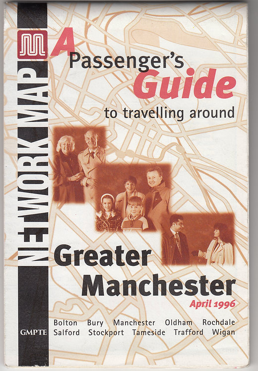 Greater Manchester PTE Map - April 1996