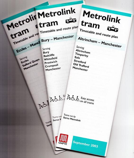Metrolink Timetables - September 2003