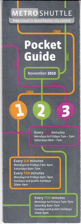 TfGM Pocket Guide to services 1 2 3 - November 2010