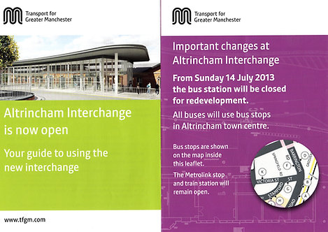 TfGM - Altrincham Interchange - 2013/14