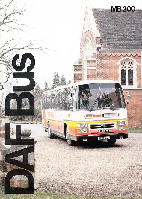Manufacturer's Brochure - DAF Bus