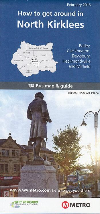 West Yorkshire Metro Map - North Kirklees - 2015
