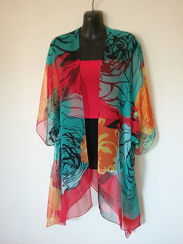 Turquoise/Red/Yellow wrap