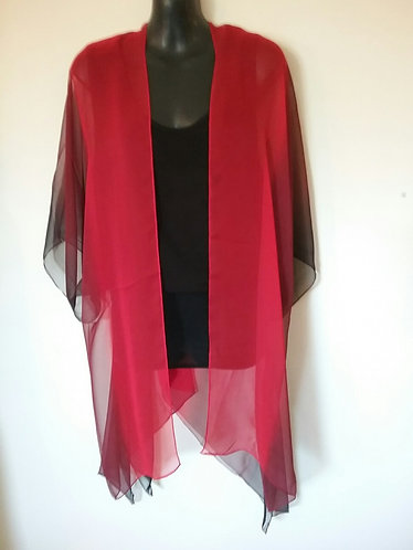 Red black elegant wrap