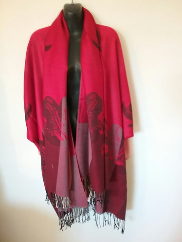 Scarlet Pashmina Jacket with Scarf